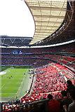 TQ1985 : Inside Wembley Stadium on matchday by Julian Osley