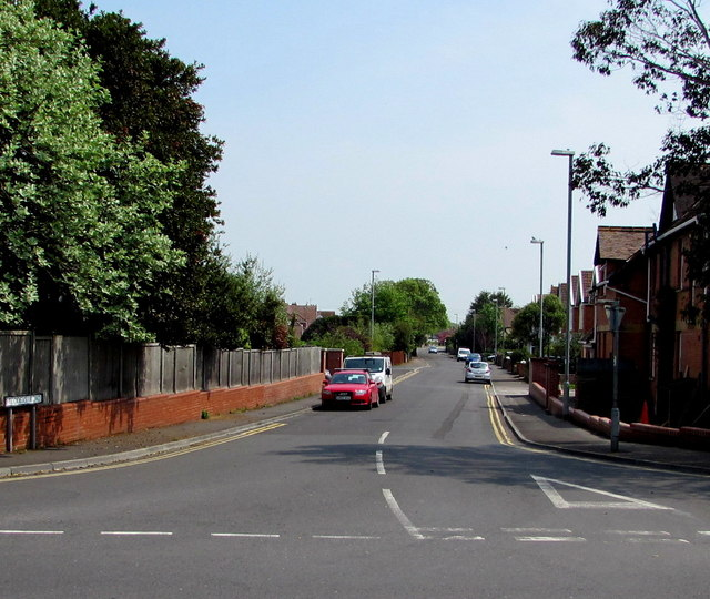 Western end of Stoddens Road, Burnham-on-Sea