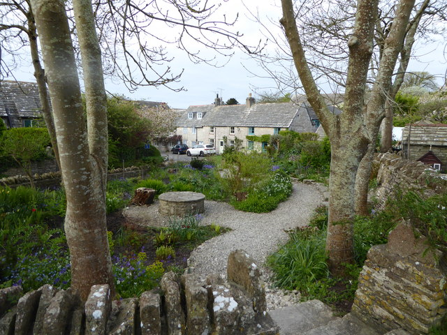 Garden by village green, Worth Matravers
