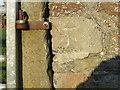 NZ0925 : Ordnance Survey Cut Mark by Peter Wood