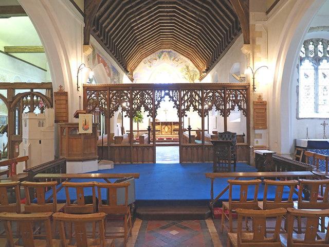 St Cosmas & St Damian, Challock - East end