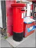 TL4658 : Pillar box beside Post office, Newmarket Road by Richard Sutcliffe