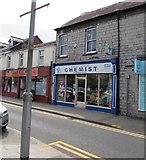 SS9079 : M W Phillips Chemist shop in Bridgend town centre by Jaggery