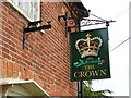 TM3461 : Hanging sign of 'The Crown' at Great Glemham by Adrian S Pye