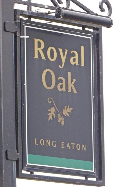 Sign of The Royal Oak