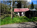 SN8040 : Outhouse with a corrugated metal roof, Cynghordy, Carmarthenshire by Jaggery