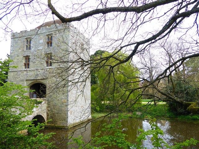 Michelham Priory - Gatehouse tower & moat