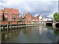 TG2308 : Norwich: the Wensum and Fye Bridge by John Sutton