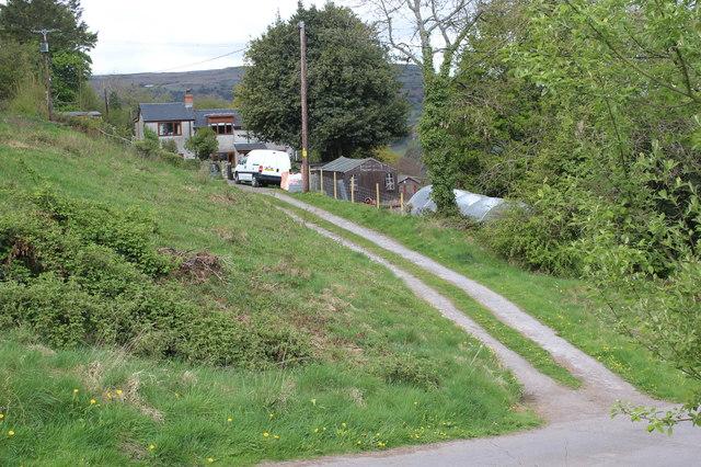 Driveway to house, Twyn Wenallt