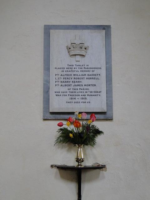 Deopham WW1 War Memorial