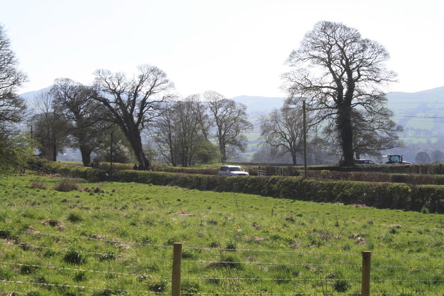 View of minor road from Hersedd Farm