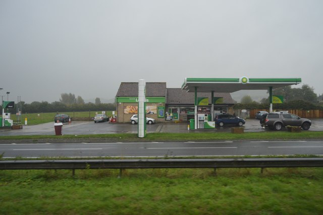 BP filling station, A303