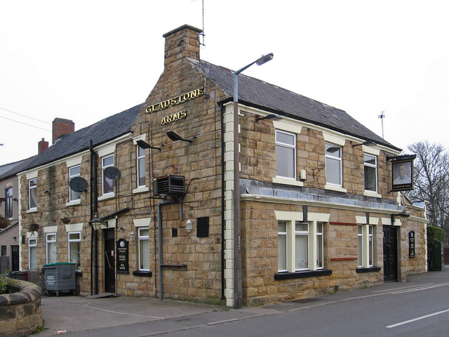 Pilsley - Gladstone Arms - from south
