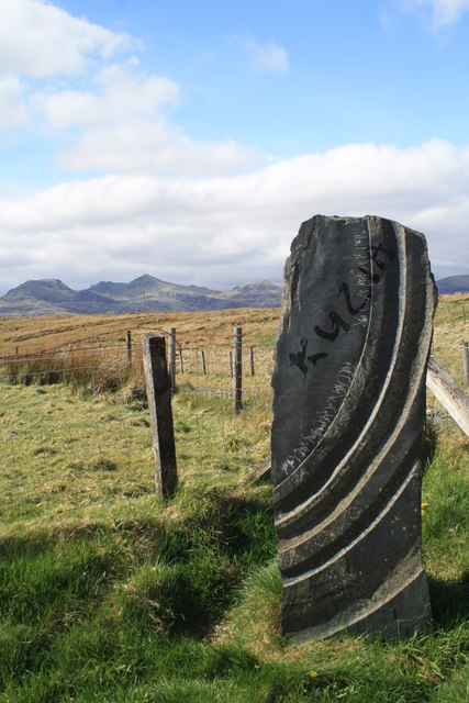 Stone Sculpture by the B4391 viewpoint by Glen Denny