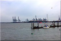 TM2532 : Ferry landing stage at Harwich by Robert Eva