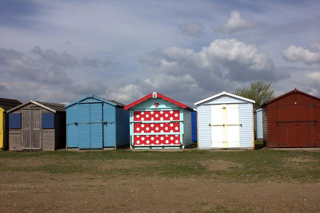 Spotted beach hut