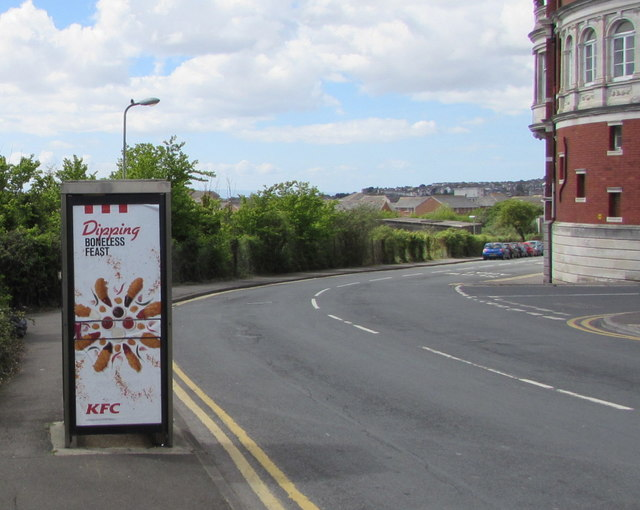 Dipping Boneless Feast advert on a Dock View Road phonebox, Barry