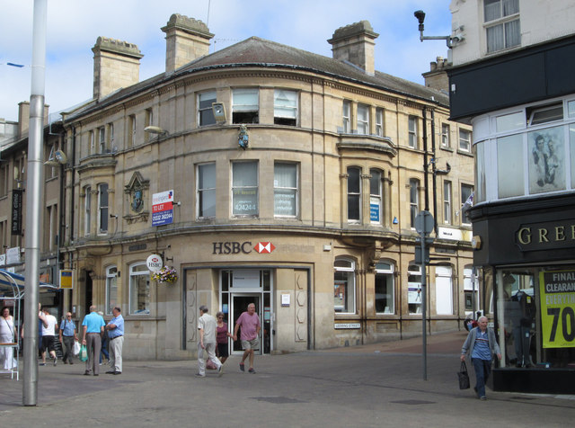 Mansfield - HSBC bank on Market Square