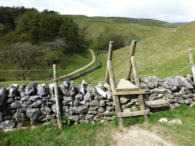 Ladder stile for path to Trow Gill