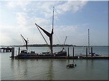 TM2532 : Sailing barge at Ha'penny Pier by Oliver Dixon