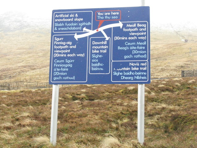Nevis Range path options