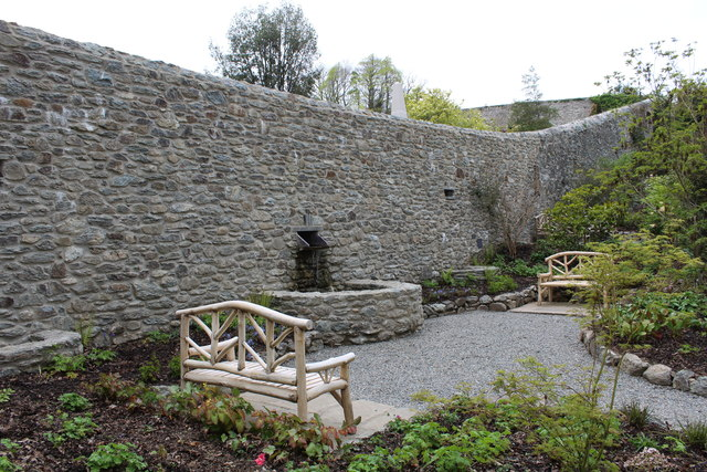 Behind the restored wall