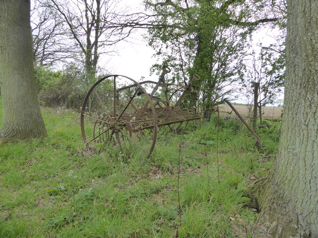 Old hay rake on Mickfield Meadow