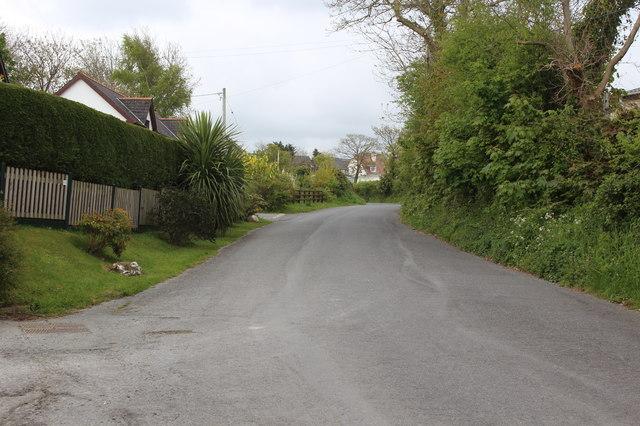 Minor road to Pont Llanina