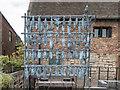 TF6120 : Metal Sculpture of Fish Drying, King's Lynn, Norfolk by Christine Matthews