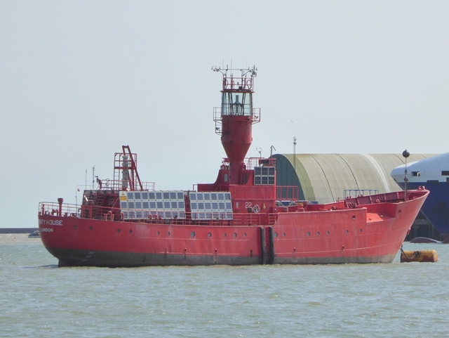 Lightship in Harwich Harbour
