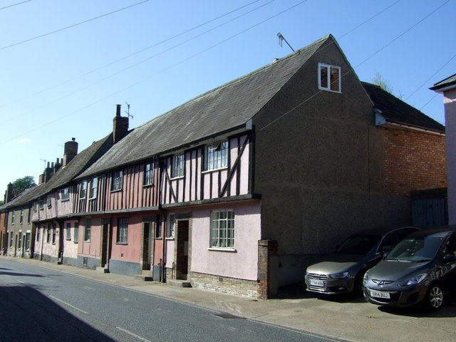 Half timbered houses on Southgate Street, Bury St.Edmunds