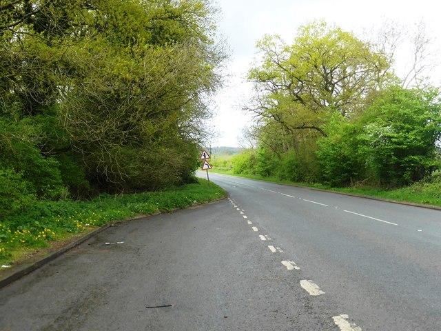 Lay-by on A422 near Leasowes Farm