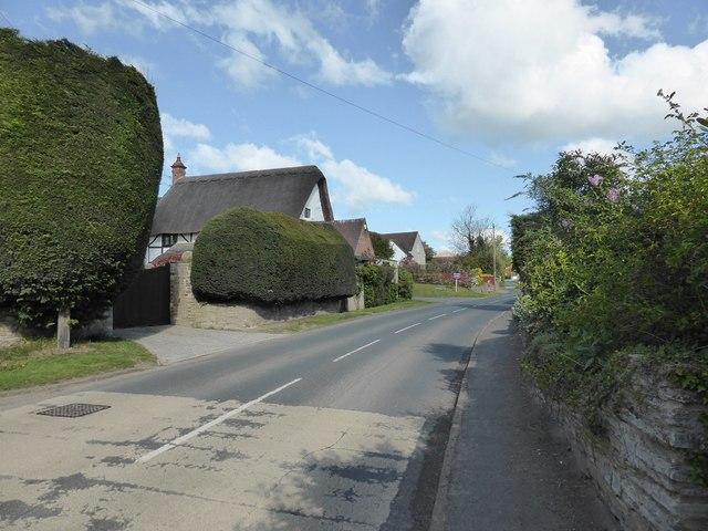 Houses on the northern edge of Binton village