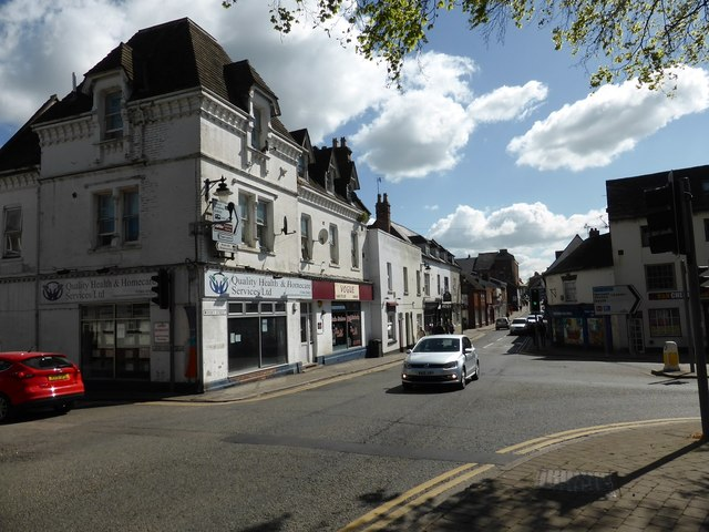 Junction of Port Street and Waterside, Evesham