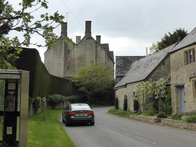The road through Idbury, looking towards Idbury Manor