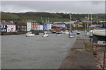 SN4562 : Boats afloat in Aberaeron Harbour by M J Roscoe