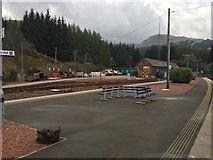 NN3825 : Station yard at Crianlarich by Andrew Abbott