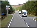 NH9722 : A95 near Speyside Heather Centre by David Dixon