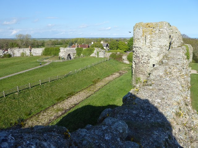Pevensey Castle - Looking towards the Eastern Gate