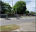TQ1568 : Pedestrian refuge in Hampton Court Way, East Molesey by Jaggery