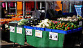 SO9198 : Nigel's vegetables in Wolverhampton Market by Roger  Kidd