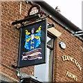 SD6105 : Sign of the Edington Arms by Gerald England