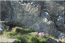 NW9954 : Start of the Southern Upland Way, Portpatrick by Billy McCrorie