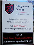 ST3091 : Rougemont School name sign, Newport by Jaggery