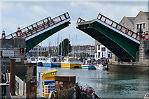 SY6778 : Town Bridge, Weymouth, opening by David Martin