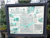SP3165 : Display Board in Royal Leamington Spa town centre by David Hillas