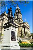 SD7109 : Samuel Taylor Chadwick statue, Bolton Town Hall by Matt Harrop