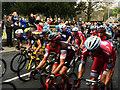 SK3099 : The Peloton of Le Tour De Yorkshire pass through Wortley by Steve  Fareham