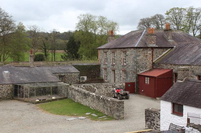 Farm buildings, Home Farm, Llanerchaeron