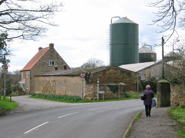 Glapwell - junction of Back Lane with Glapwell Lane